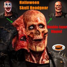 doublelayerrippedheadgear, halloweenfacemask, Cosplay, Skeleton