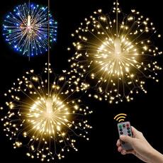 Copper, Decor, ledstringlamp, fireworklight