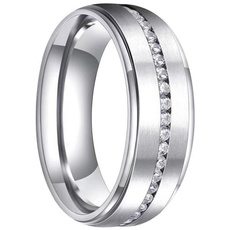 Sterling, White Gold, Plus Size, wedding ring