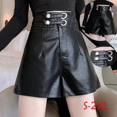 Fashion, high waist, pants, leather