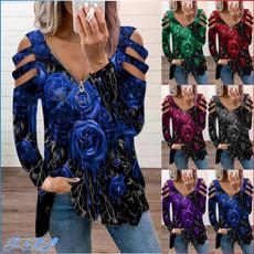 printed sweatshirt, Long Sleeve, Long sleeved, Loose