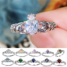Sterling, Heart, Fashion, 925 silver rings