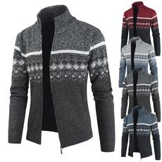 Casual Jackets, zippersweater, warmjacket, Winter