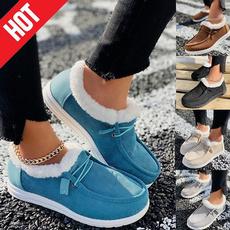 ankle boots, cottonshoe, wintershoesforwomen, Flats shoes