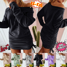 Mini, Plus Size, pullover sweater, Long Sleeve