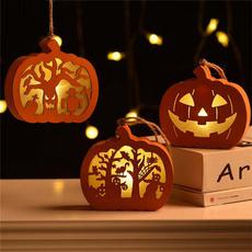 woodenledhalloweenlight, Decor, led, hauntedhousedecoration