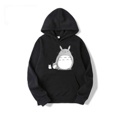 My neighbor totoro, Fashion, black hoodie, Long Sleeve