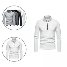 Stand Collar, autumnhoodie, Fashion, solid color