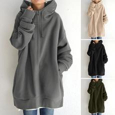 longplu, autumnandwintersweater, hooded, velvet