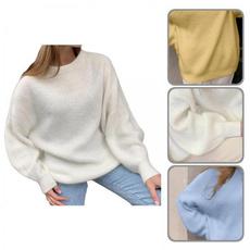Women Sweater, solidcolorsweater, Food, Sweaters