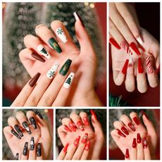 ballerinanail, acrylic nails, nail tips, christmasnail