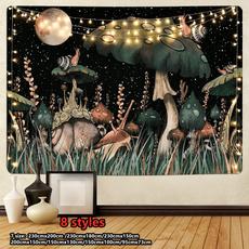 trippytapestry, Wall Art, Mushroom, tapestryhippie