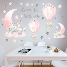 cute, elephantsticker, Star, hotairballoonsticker