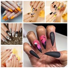 acrylic nails, nail tips, Beauty, halloweennail