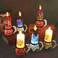 decoration, led, skull, candlelight