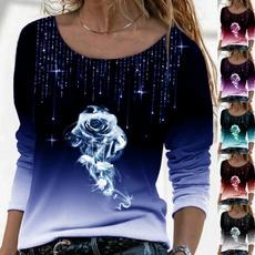 women pullover, Women Blouse, Long Sleeve, Autumn Shirts