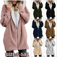Plus Size, sweater coat, Winter Coat Women, zipper hoodie
