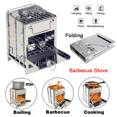 stainlesssteelbbqgrill, Steel, Outdoor, squarewoodburningstove