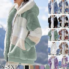 Plus Size, fluffy, Winter Coat Women, Wool