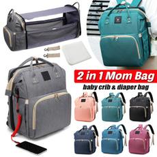 Capacity, mummybag, Beds, nappybag