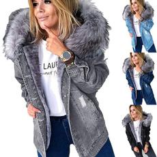 Jacket, Hood, Plus Size, Winter