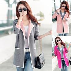 cardigan, Stitching, sweater coat, Coat