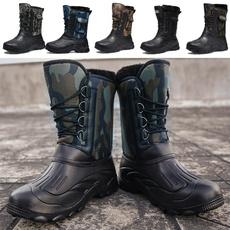 Cotton, combat boots, Plus Size, Leather Boots