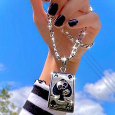 Heart, Men  Necklace, punk necklace, Jewelry
