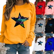 Plus Size, Graphic T-Shirt, pullover sweater, Long Sleeve