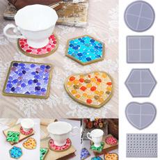 coastermould, Coasters, hexagonalmold, Silicone