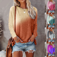 Printed T Shirts, Long sleeved, Slim Fit, casual shirt
