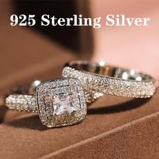 Sterling, Cubic Zirconia, DIAMOND, engagementweddingring