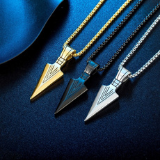 spearheadnecklace, Steel, hiphopaccessorie, Jewelry