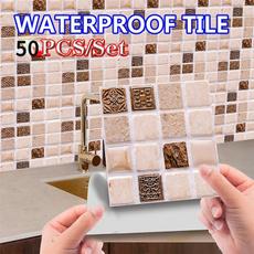 wallstickersampmural, Bathroom, Home Decor, Waterproof