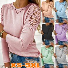 Plus Size, Lace, Sleeve, Long Sleeve