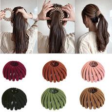 ponytailclip, Fashion, velvet, birdsnesthairclip