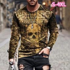 Fashion, Shirt, skull, long shirt