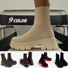 ankle boots, knitshoe, Booties, Womens Boots