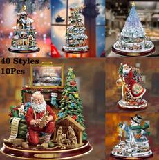 decoration, Christmas, christmaswindowstickerv, Home & Living