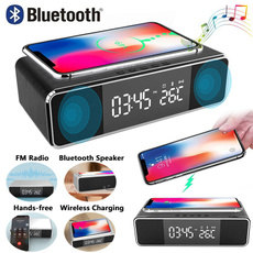 led, usb, wirelessphonecharger, Clock