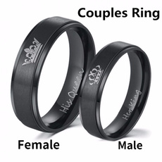 Couple Rings, Steel, Fashion, 925 sterling silver