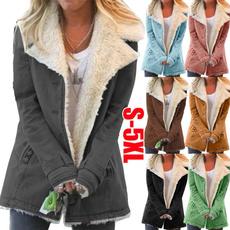 Turn-down Collar, autumnwinter, jackets for women, fur