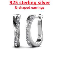 Sterling, crossearring, DIAMOND, moissanite earrings