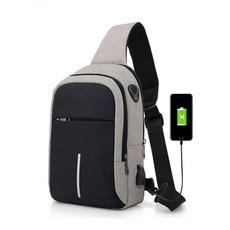 Shoulder Bags, usb, waistpack, Waterproof