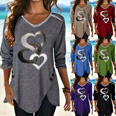 blouse, Heart, heartprint, Shirt