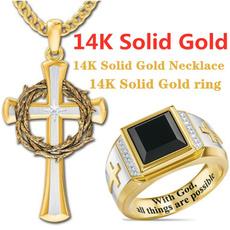 Sterling, DIAMOND, Christian, Cross Pendant