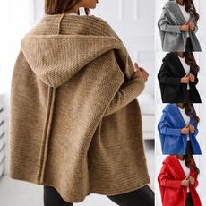 knitwear, hooded sweater, hooded, sweater coat