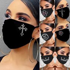 Outdoor, mouthmask, Masks, Rhinestone