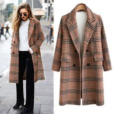 casual coat, woolen coat, Plus Size, trenchcoatforwomen