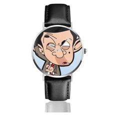 mrbean2leatherwatch, Fashion, Clock, leather